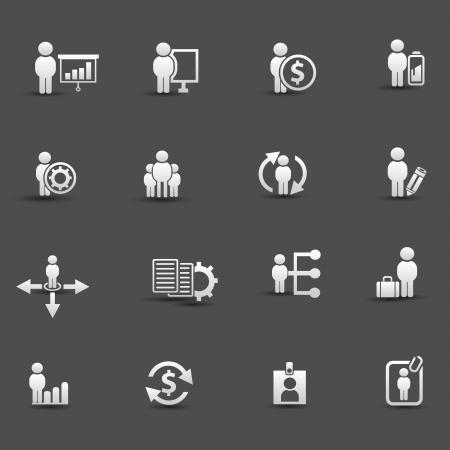 contratos: Iconos de los recursos humanos Vectores