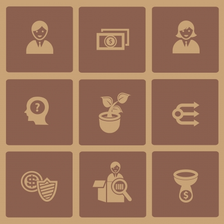 Business concept icon Vector