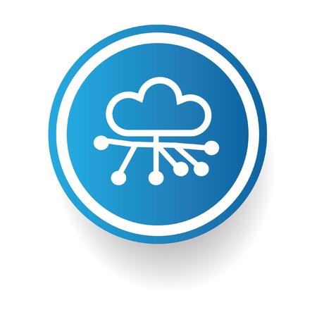 Cloud connection sign Stock Vector - 20168039
