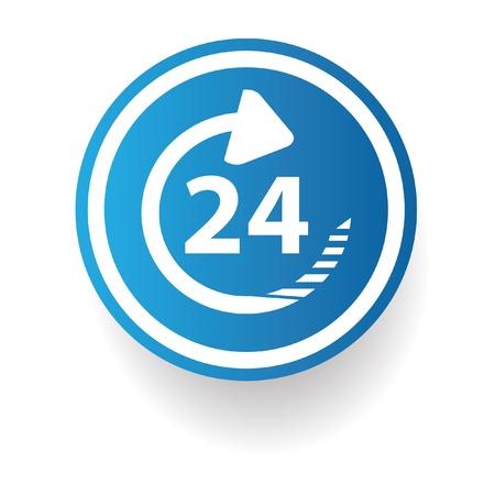 24 hr: 24 hr sign