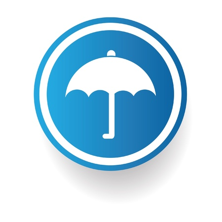 Umbrella sign Stock Vector - 20168070