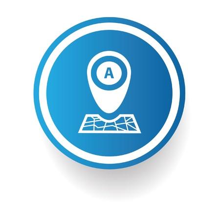 thumbtack: Map area sign