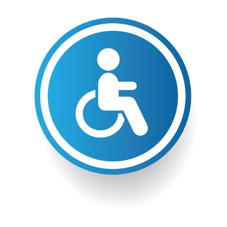 Disabled sign,vector Stock Vector - 20168098