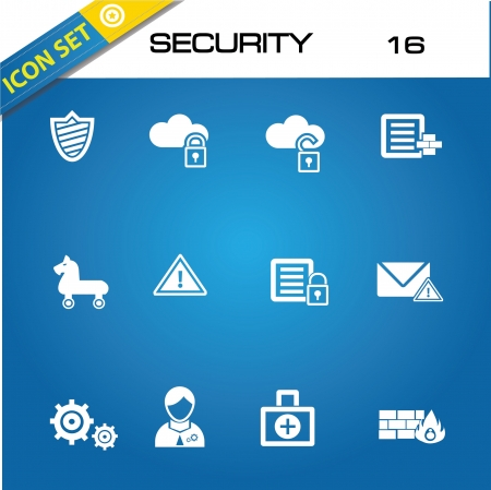 Virus security icons Stock Vector - 20168768