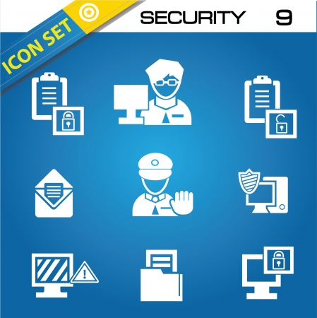 Security icons Stock Vector - 20168767