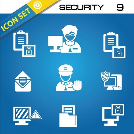 retina scan: Security icons