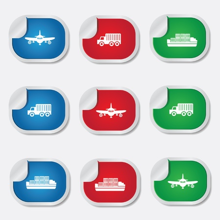 Transport icons Stock Vector - 20168810