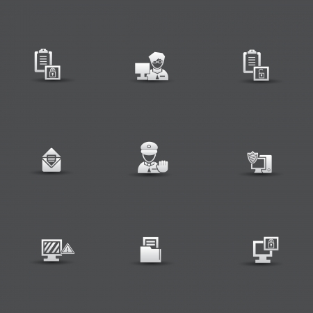 Security computer icons Stock Vector - 20169175