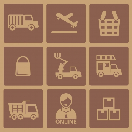 Logistic old icons Vector