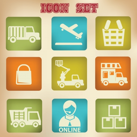 Logistic vintage icons Vector