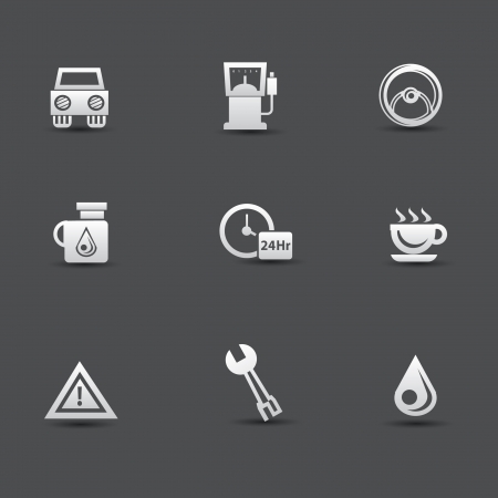 Auto service car icons Vector