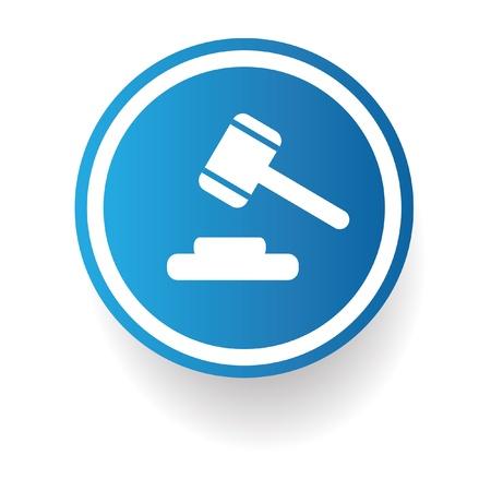 Hammer,law symbol Stock Vector - 20447276