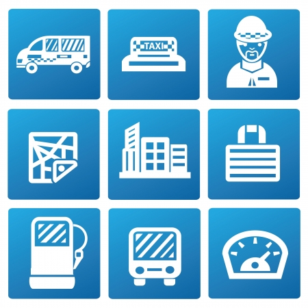 Transport and building icons Vector
