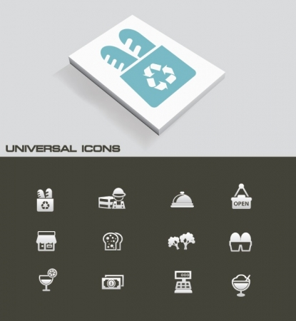 Supermarket universal icons,vector Vector