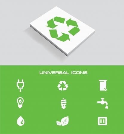 Ecology universal icon set,vector Vector