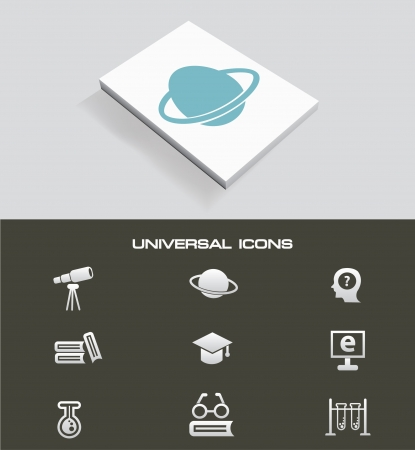 Science universal icon set Vector