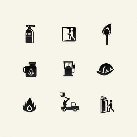 Fire icons Stock Vector - 20447318
