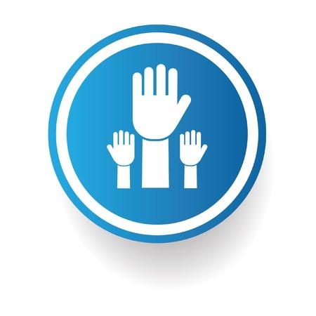 show of hands: Mostra le mani simbolo, vettore