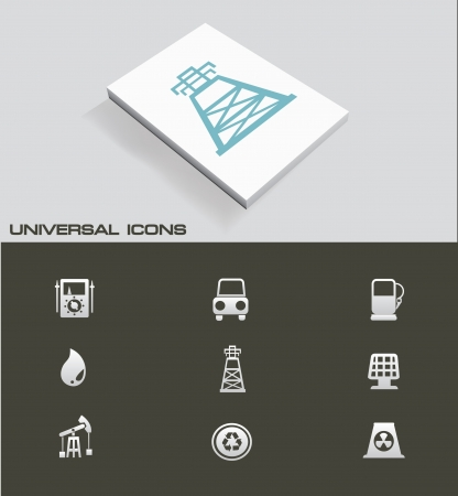 Industry ,Energy and power universal icons Vector