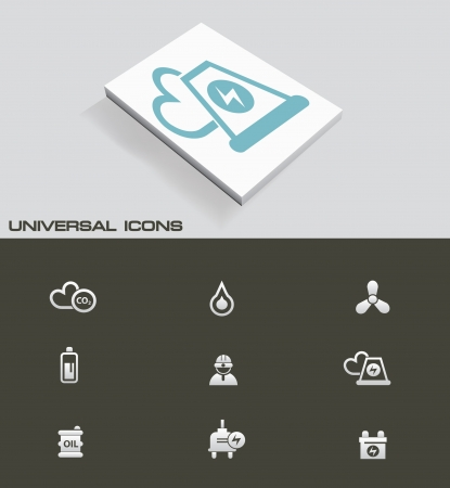Nuclear and energy universal icons Vector