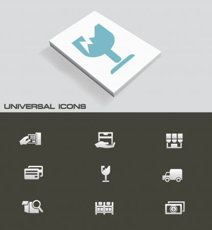 Shipping universal icon set Vector