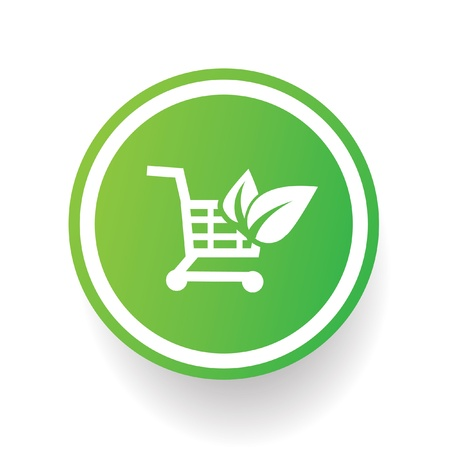 Ecology shopping symbol Vector