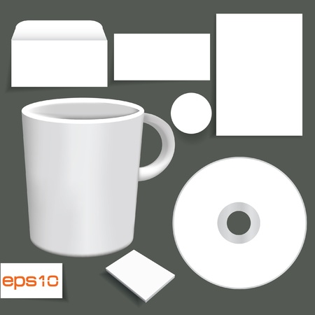 Blank object for text or slogan, White object Stock Vector - 20391684