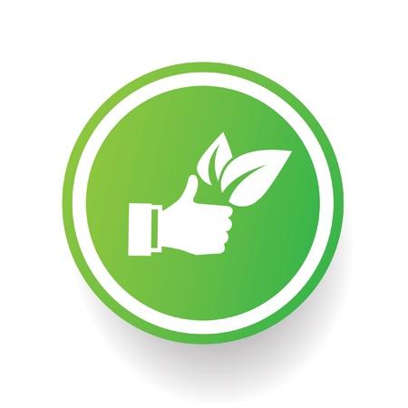 Like ecology symbol Vector