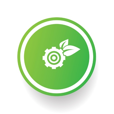 Gear ecology symbol Vector