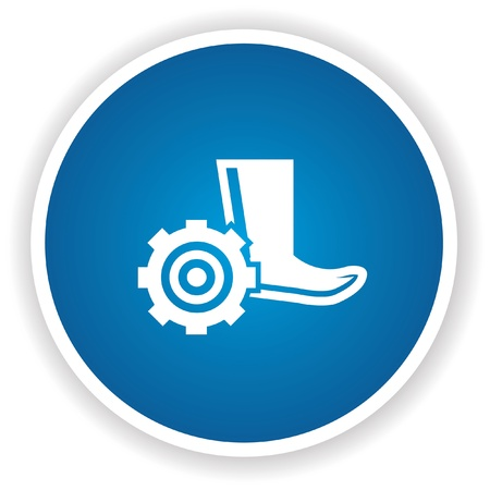 foot soldier: Safety boot symbol