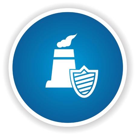 nuclear symbol: Seguridad Nuclear s�mbolo, vector