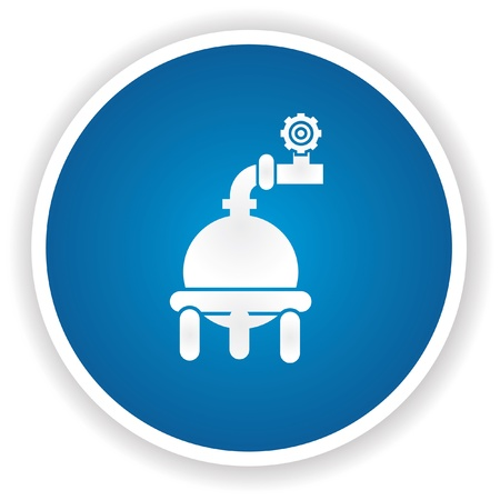 Industrial ,gas system symbol,vector Vector
