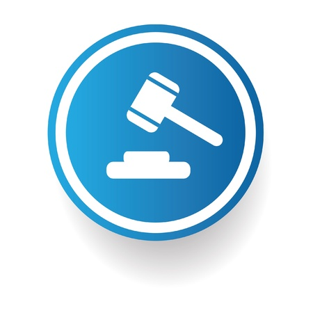 auction gavel: Hammer,law symbol Illustration