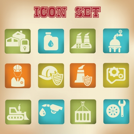 Industrial vintage icons,vector Stock Vector - 20428080
