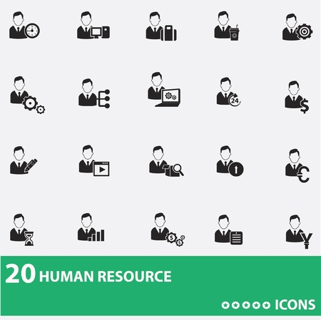 Business man,human resource icons Stock Vector - 20428082