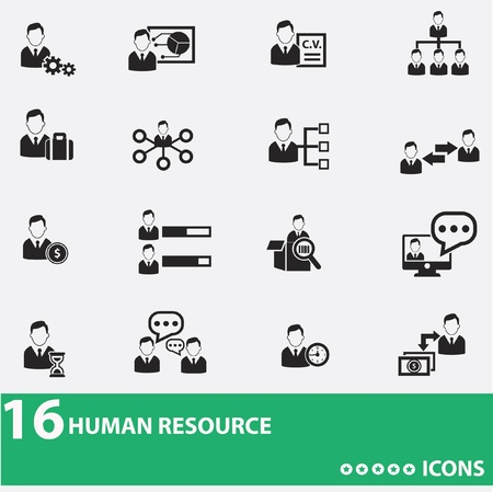 Business-Mann, Human Resource icons Standard-Bild - 20428085