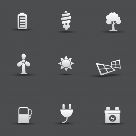 antipollution: Ecology Energy icons Illustration