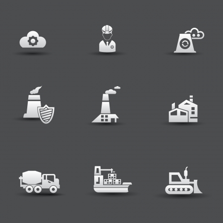 Industrial icons Stock Vector - 20427493
