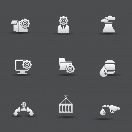 Industrial and engineering icons Stock Vector - 20427409