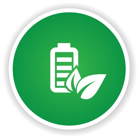 battery acid: Battery symbol on green button