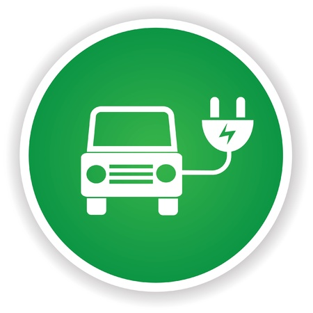 eco notice: Ecology car symbol Illustration