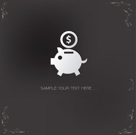 Saving money symbol Vector