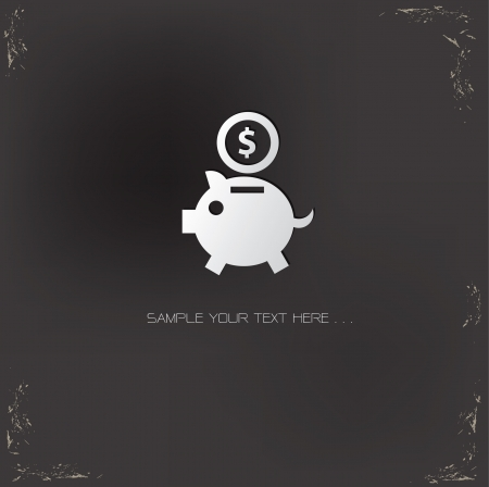 Saving money symbol
