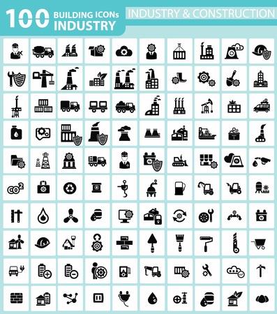 산업, 건물, 건설 엔지니어링 아이콘