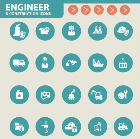 Finance and business concept icons Vector