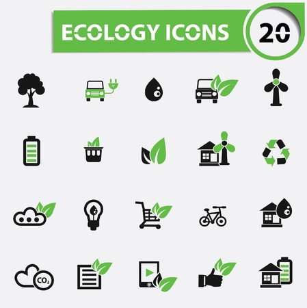 Ecology,Natural energy icons,vector Vector