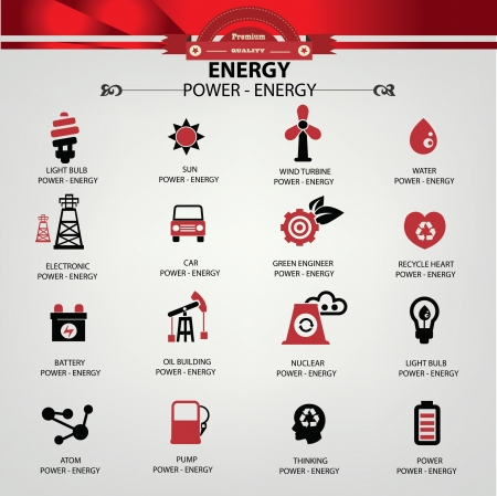 people icon set: Energy and power icons,vector Illustration