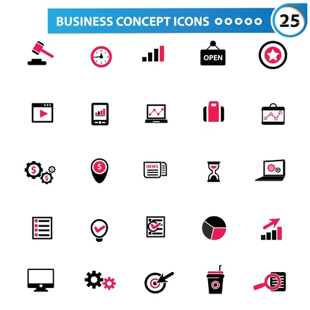 Business concept ic�nes, vecteur