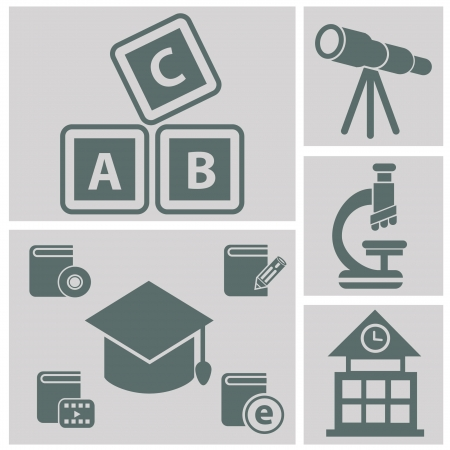 Education icons,vector Stock Vector - 20568593