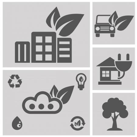 antipollution: Iconos de la ecolog�a, vector Vectores